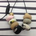 9 bead polymer clay necklace
