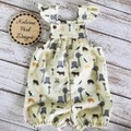 """Girls Overalls Made to Order """" A Farmers Fighting Spirit"""" Fabric"""