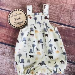 "Boys Overalls Made to Order "" A Farmers Fighting Spirit"" Fabric"