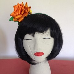 """Orange Stunner"" Fascinator Headband"