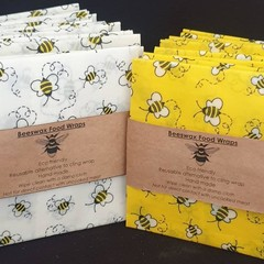 beeswax food wraps x 6