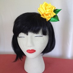 """Yellow Miss"" Fascinator Headband"