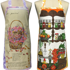 Metro Retro POT POURRI Basket OR Vintage COOKS KITCHEN Tea Towel Apron