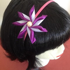 """Purple Carmen"" Wire Headband"