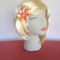 """Orange Squash Carmen"" Snap Hair Clip"