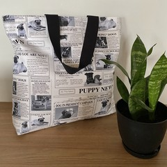 Puppy news tote