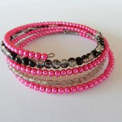 Mostly Pink Wrap Bracelet
