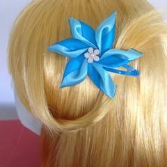 """Teal Carmen"" Snap Hair Clip"