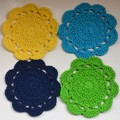 Set of 4 Crochet Cotton Coasters