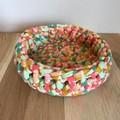 Crochet basket   essential oils   home decor   storage basket   RAINBOW STRIPE