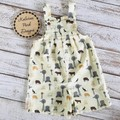 """Boys Overalls Made to Order """" A Farmers Fighting Spirit"""" Fabric"""