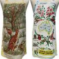 Metro Retro - Vintage KANGAROO or WILDFLOWERS Kitchen - Tea Towel Apron