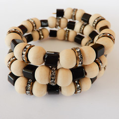 Natural Wood Bead Wrap Bracelet