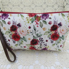 Ladies Wristlet Clutch- Boho Floral - Day Wear, Race Day, Garden Party