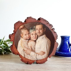 ❤ Valentines Day ❤ Personalised Wood Slice Photo Plaque ❤