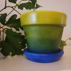 Blue green yellow rainbow