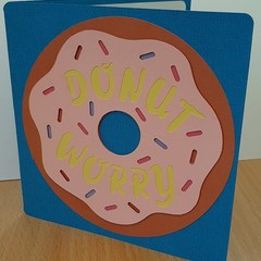 Birthday Card Greeting Card Donut Worry Happy Birthday