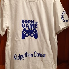 Born to game boys t shirt white Kidpython gamer boys tshirt