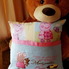 """Peppa"" Reading/Pocket Cushion  (cover only)"