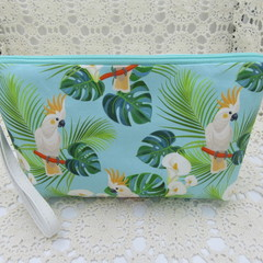 Ladies Wristlet Clutch- Cockatoo - Day Wear, Race Day, Garden Party