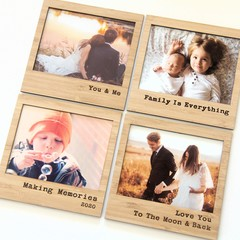 Magnetic photo frame bamboo Make Your Selection