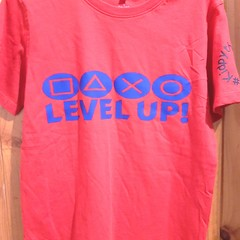 PlayStation level up boys t shirt red Kidpython gamer boys tshirt