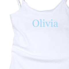 Personalised top for girls, White, Custom Top with name