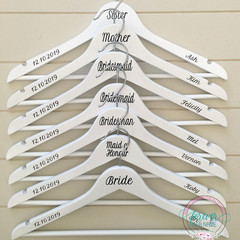 Personalised Wedding/Dress Coat Hanger perfect Bridesmaid, Maid of Honour etc