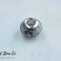 Natural Orbicular Jasper Gemstone European Bead Bracelet Charm