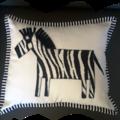 Nursery Cushion/nursery decor/baby shower gift, zebra cushion