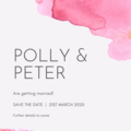 SAVE THE DATE ANNOUNCEMENT - CUSTOMISED PRINTABLE DOWNLOAD