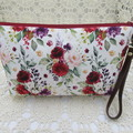 Ladies Wristlet Clutch- Boho Floral - Day Wear, Race Day, Garden Party
