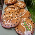 Indigenous Inspired Australian Wildlife Hand Painted On Reclaimed Wood Rounds