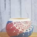 Blue and red Mandala Bowl