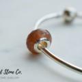 Natural Strawberry Quartz Gemstone European Bead Bracelet Charm