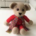 Sebastian - Crocheted Bear 36cm Amigurumi