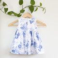 Size 2-Sustainable Handmade Sleeveless Toddler Dress