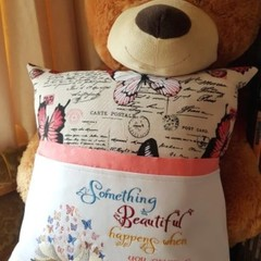 """Beautiful Butterflies"" Reading/Pocket Cushion (cover only)"