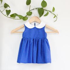 Size 1-Sustainable Handmade PeterPan Toddler Dress