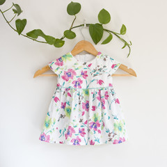 Size 1-Upcycled Floral Toddler Dress