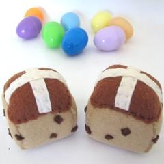 Easter Gift Hot Cross Buns Felt Play Food