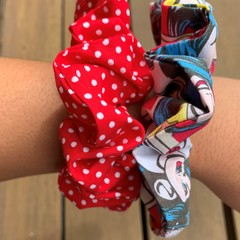Wonder Woman Polka Dot Scrunchies 2 Pack