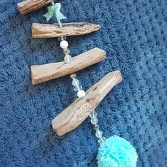 Driftwood Wall Hanging, Aqua/Turquoise