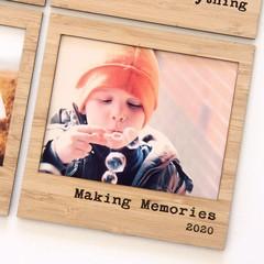 Making Memories 2020 magnetic photo frame bamboo