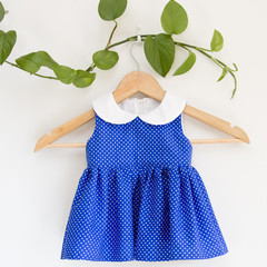 Size 0-Sustainable Handmade PeterPan Baby Dress