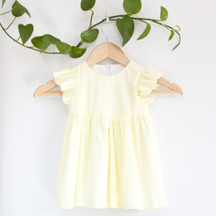 Size 2-Sustainable Handmade Fluttersleeve Toddler Dress