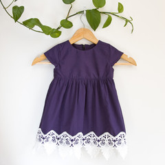 Size 2-Upcycled Occasion Lace Toddler Dress