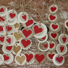 40 Valentine's Day Tags Wedding Tags Favour Tags Florist Tags Sweet Bag Tags