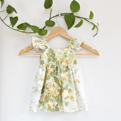 Vintage Upcycled Flutter Toddler Dress Size 1