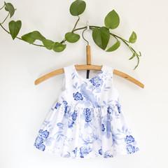 Size 1-Sustainable Handmade Sleeveless Toddler Dress